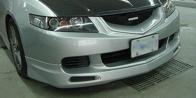 TSX MUGEN STYLE FRONT BUMPER LIP Extreme Parts - 2006 acura tsx front bumper